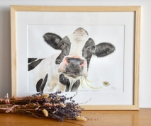 Daisy Cow Painting